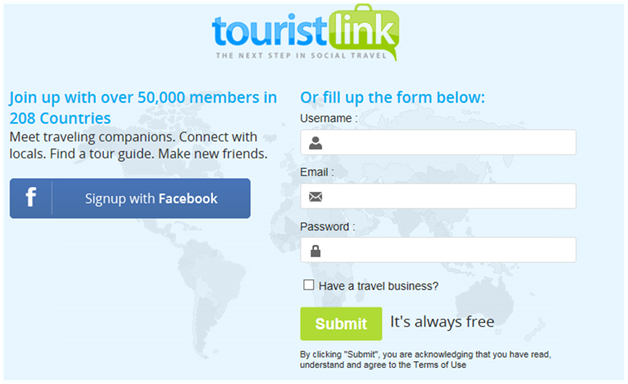 A Sign-up Page Where the Visitor Can Proceed or Bounce